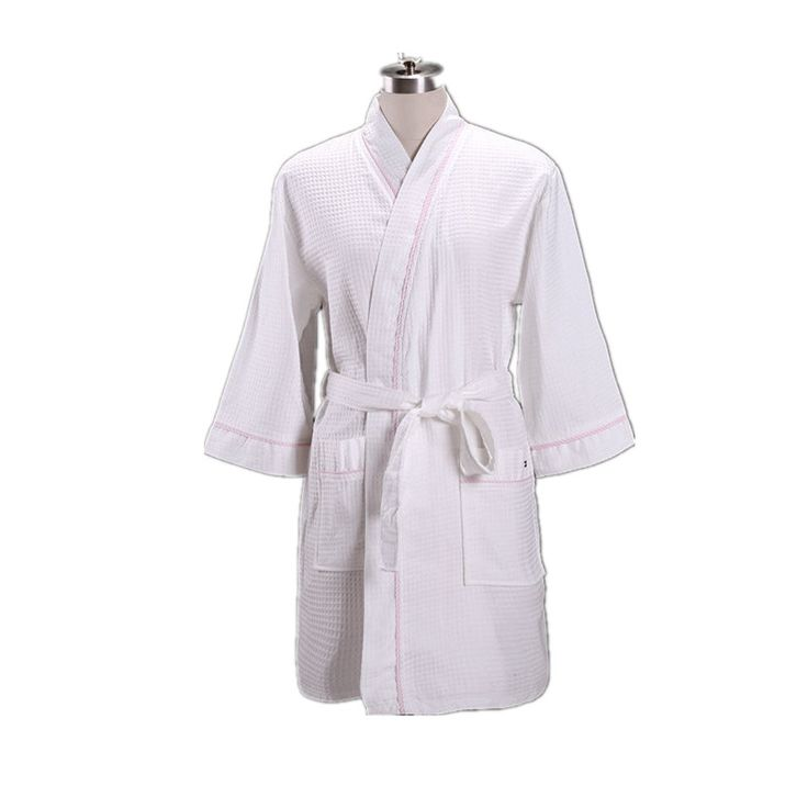 Japanese Kimono style Waffle cotton Bathrobe Unisex Soft Sleepwear Traditional bathroom spa robe Classic Lounge Pajamas 062303 #Affiliate