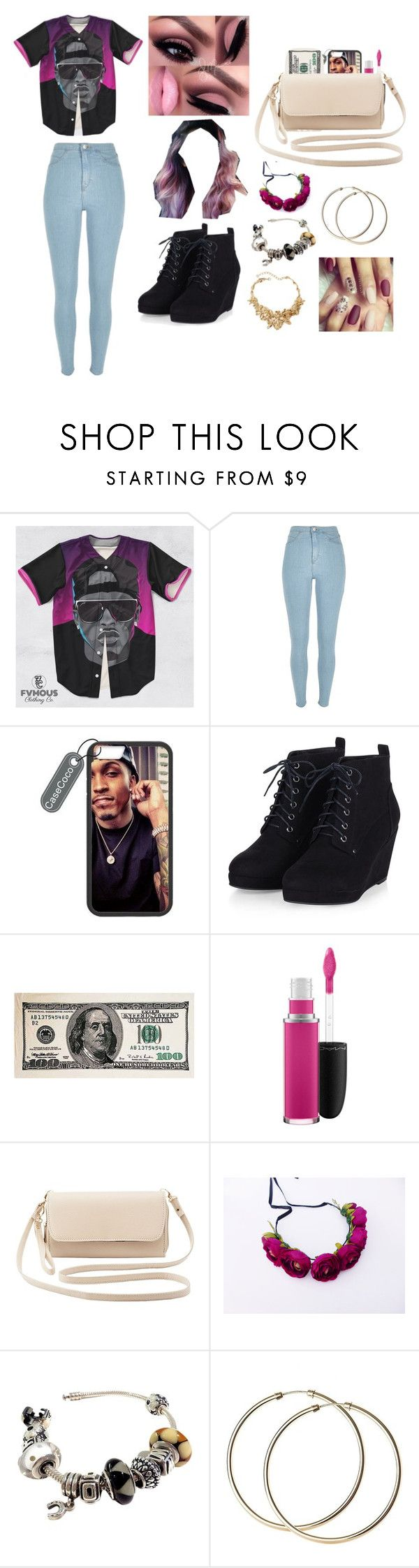 """August alsina concert"" by princeton2001 ❤ liked on Polyvore featuring River Island, MAC Cosmetics, Charlotte Russe, Pandora, Oscar de la Renta, women's clothing, women, female, woman and misses"