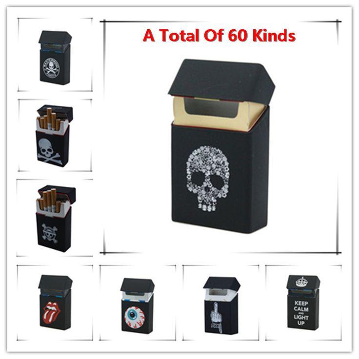 Holds 20 Cigarettes,Skull Silicone Cigarette Case Fashion Cover Elastic Rubber Portable Man/Women Cigarette Box Sleeve