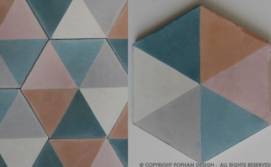 popham design :: cement tiles :: handmade in morocco #colorpallete