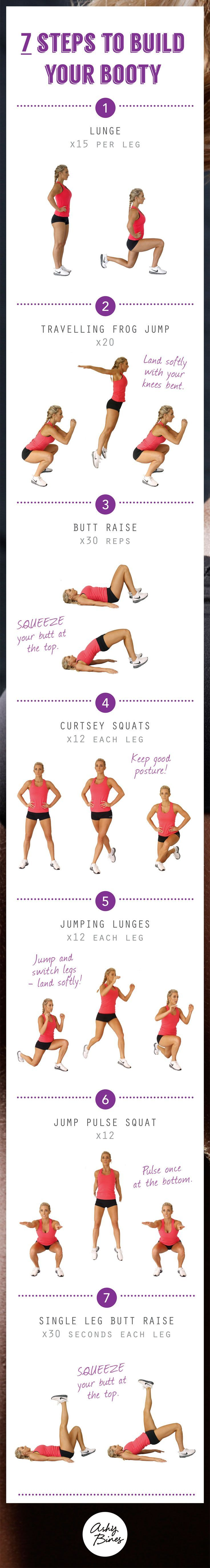 7 steps to build your booty!