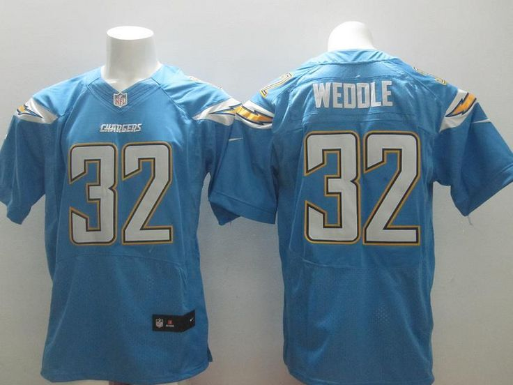 Men's NFL San Diego Chargers #32 Eric Weddle L.Blue Elite Jersey