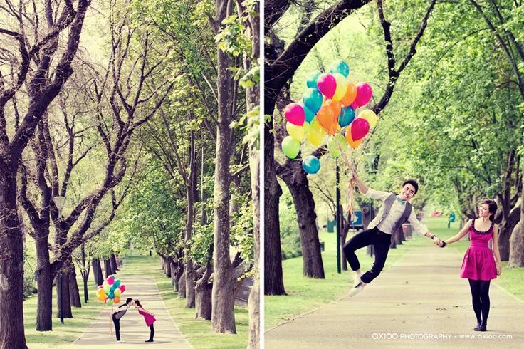 balloons - fitzroy garden by axioo