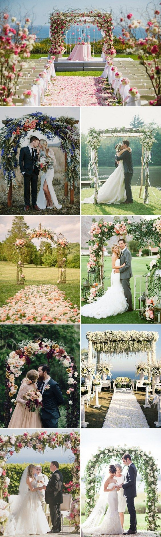 Floral Inspired Wedding Arches / http://www.himisspuff.com/wedding-arches-wedding-canopies/8/