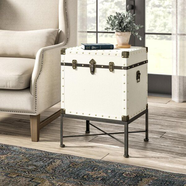 Caruso End Table With Storage In 2020 End Tables With Storage End Tables Coffee Table With Storage #storage #trunk #for #living #room