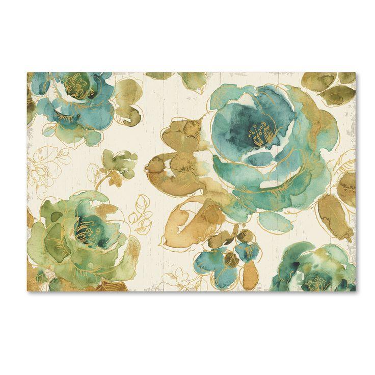 Lisa Audit 'My house Roses I on Wood Cream' Canvas Art
