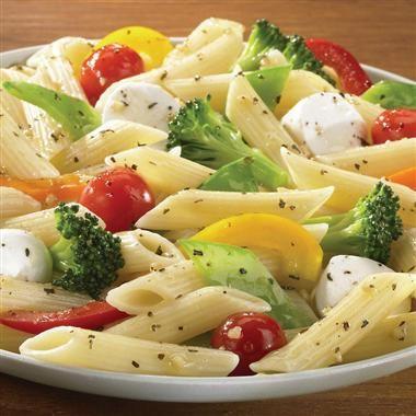 Basil & Garlic Vegetable Pasta with Balsamic Vinaigrette