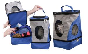 Carrying your pet just got easier with the Pack-n-Go. This handy backpack serves two purposes; toting your pet and carrying your pet's supplies. The main compar
