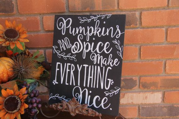 Pumpkins and spice Thanksgiving Chalkboard sign Fall chalk art holiday chalkboard thanksgiving chalkart thanksgiving decor thanksgiving sign