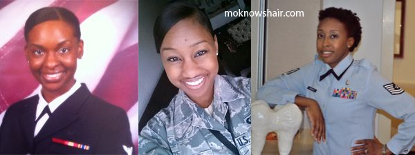 Natural hair in the military.