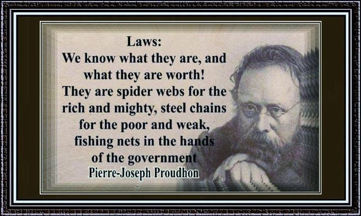 Image result for proudhon quotes law