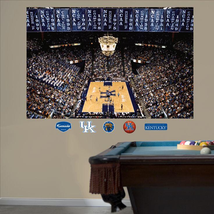Kentucky basketball mural rupp arenaor this for the boys for Basketball court wall mural