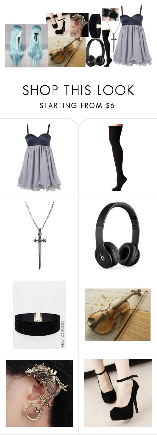 """~Call the doc I must be sick~"" by marythedemon ❤ liked on Polyvore featuring Lauren Ralph Lauren, Nialaya, Beats by Dr. Dre and ASOS Curve"