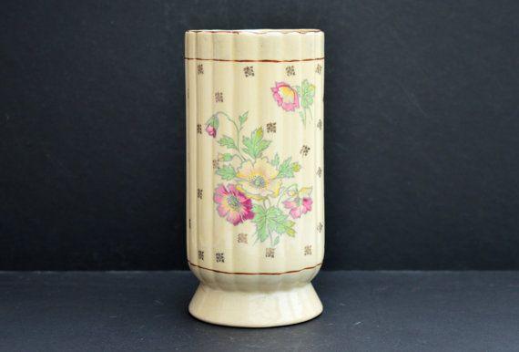 1930s Arthur Wood Vase Vintage Cream Vase Vintage Ceramic Vase