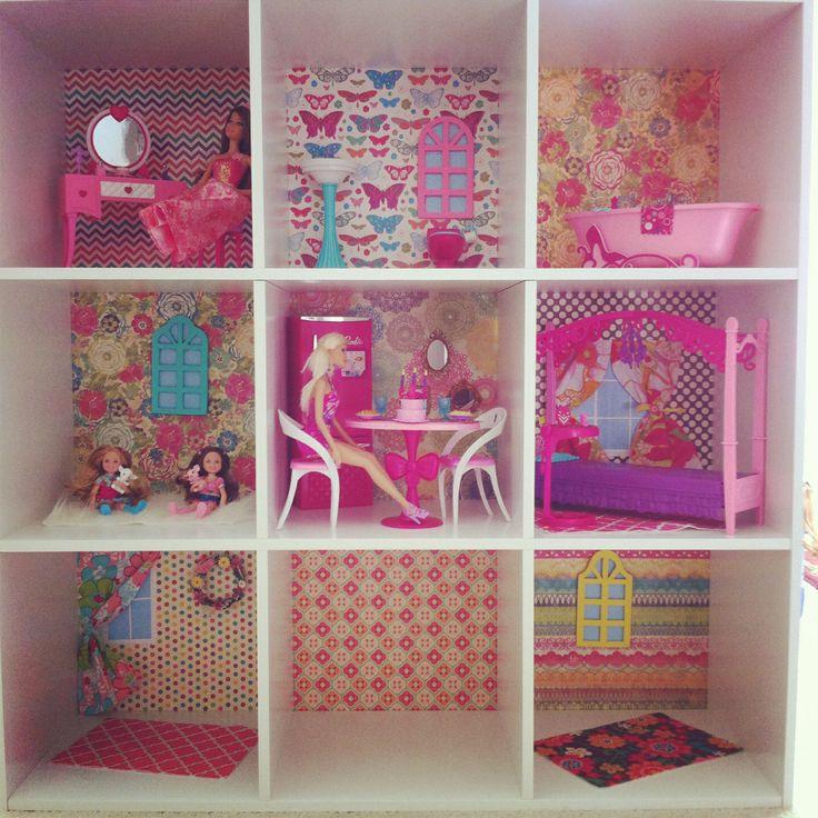 diy barbie house 3d paper doll furniture toys