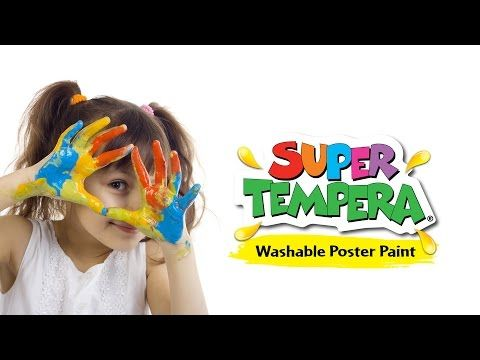 Super Tempera School Poster Paint. FAS - Fine Art Supplies - YouTube