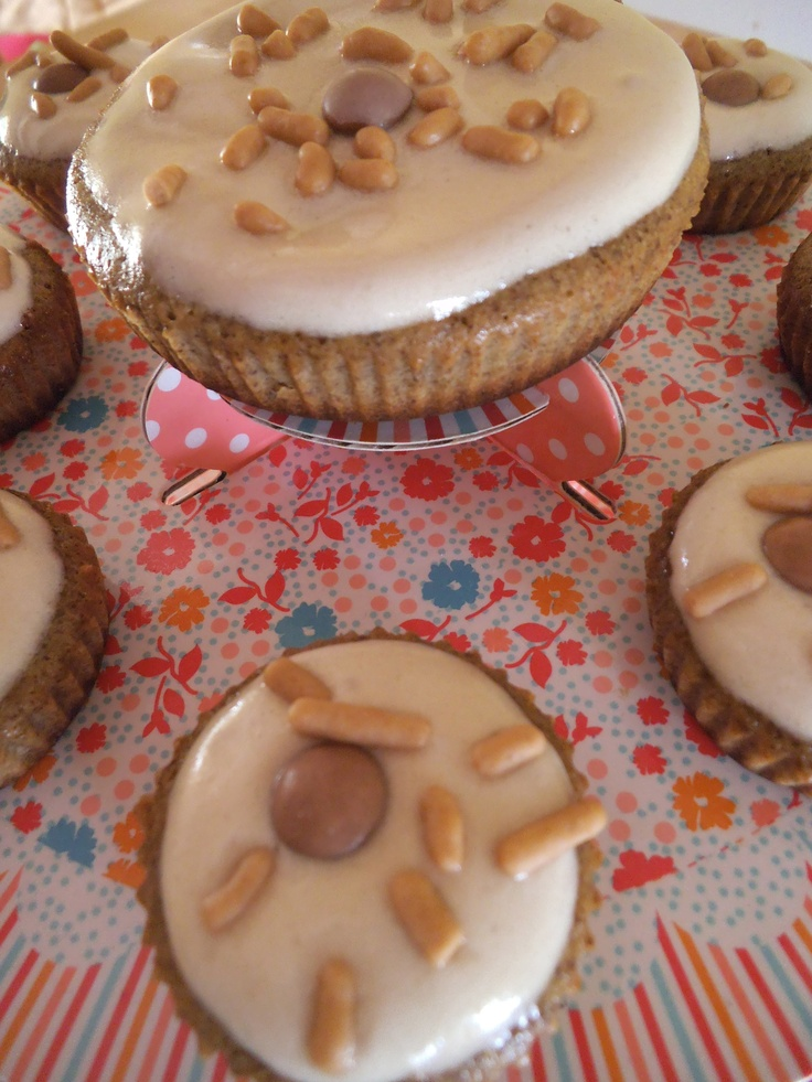 Coffee and white chocolate muffins