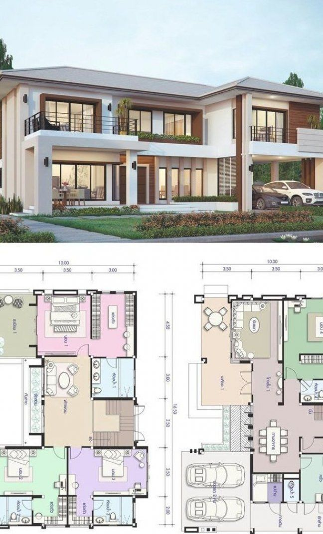 House Design Plan 16 5x10m With 5 Bedrooms House Design Plan 16 5x10m With 5 Be In 2020 House Projects Architecture Architectural House Plans House Designs Exterior