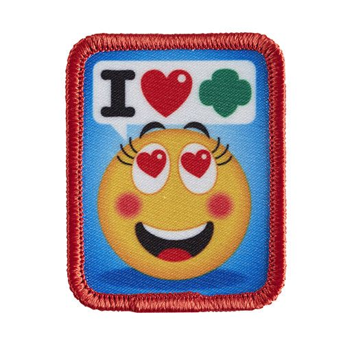 "1¼ x 2¼"" Photo Patch. All Fun Patches are unofficial and are not to be worn on the front of the Girl Scout sash, vest or tunic. All fun patch designs are exclusively owned by Girl Scouts of the USA."