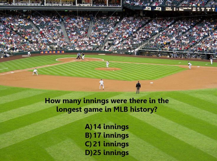 Baseball Trivia Question How Many Innings Were There In