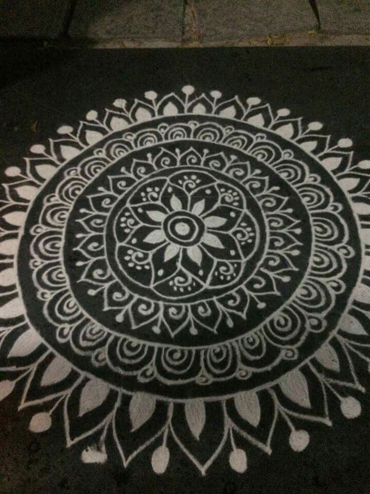 48 best images about chukkala muggulu on pinterest for Floor rangoli design