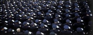NYPD Officer's Funeral, XPan, 45mm f4, Fuji Provia 100f : analog