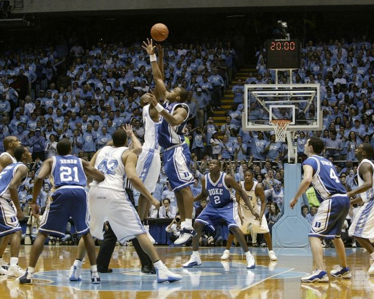 "Duke Blue Devils vs North Carolina Tar Heels 2004 ""Jump Ball"" Photo (Choose Size)"
