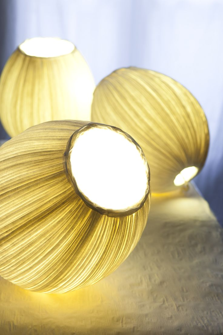 luminaires by Sophie Mouton-Perrat et Frédéric Guibrunet at papieraetres.com