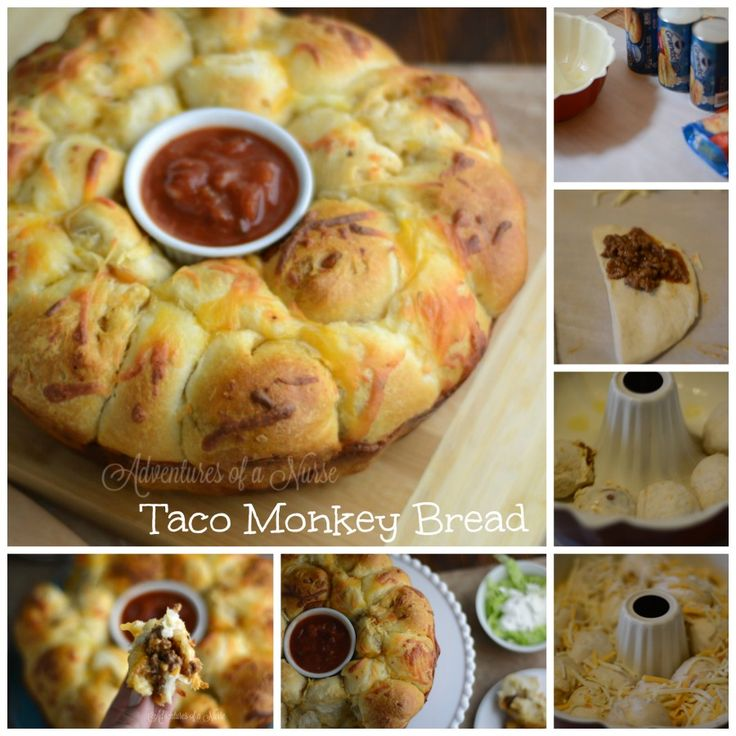 Taco Monkey Bread ******WARNING EXTREMELY DANGEROUS****** This bread is so addicting I thought it needed a warning label. This is the perfect game day or after school snack. TacoMonkey Bread, meat and cheese wrapped in a Grands biscuit delicious. You will need: 2 packages of Grands Biscuits 1 pound of taco meat 16 oz cheddar …