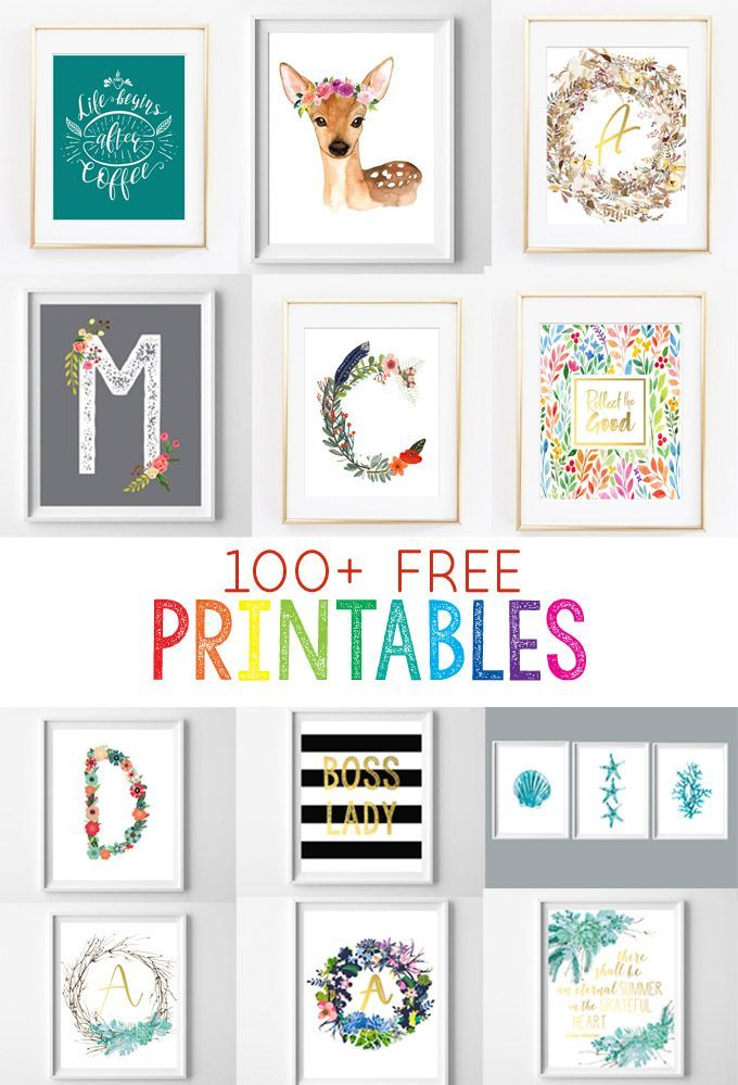 Free Printables For The Home Over 50 Home Nursery And Kitchen