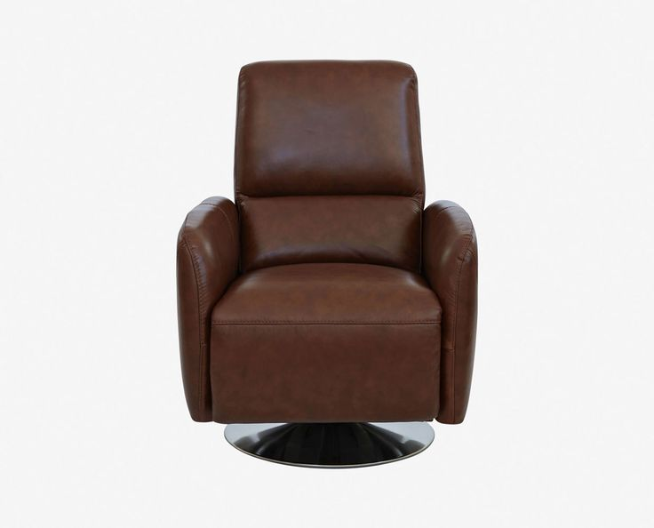 Fully upholstered in leather with a swivel metal base relaxation comes easily as you push back to your ... : are recliners bad for your back - islam-shia.org