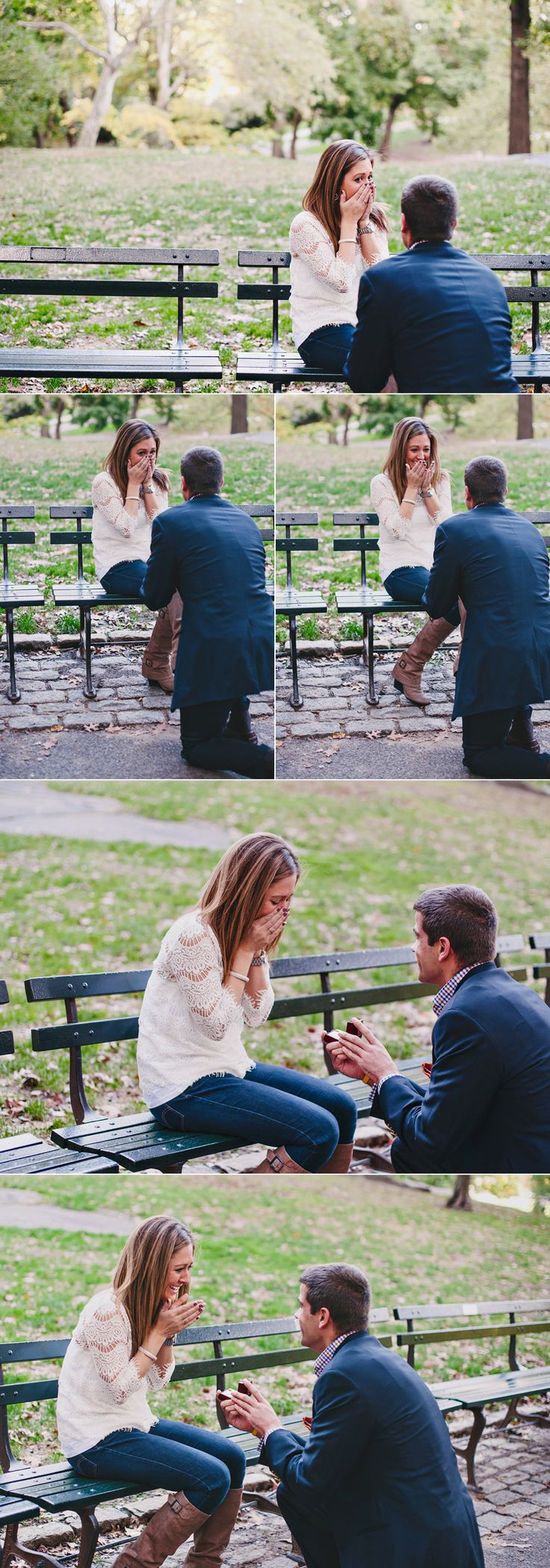 This is perfect. I've neverrrr wanted a big elaborate proposal. Just a beautiful day and a park bench.