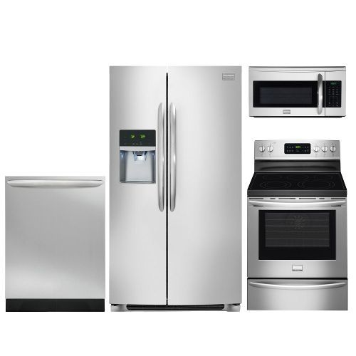 Frigidaire Stainless Steel 4 Piece Kitchen Appliance Package With Electric Range