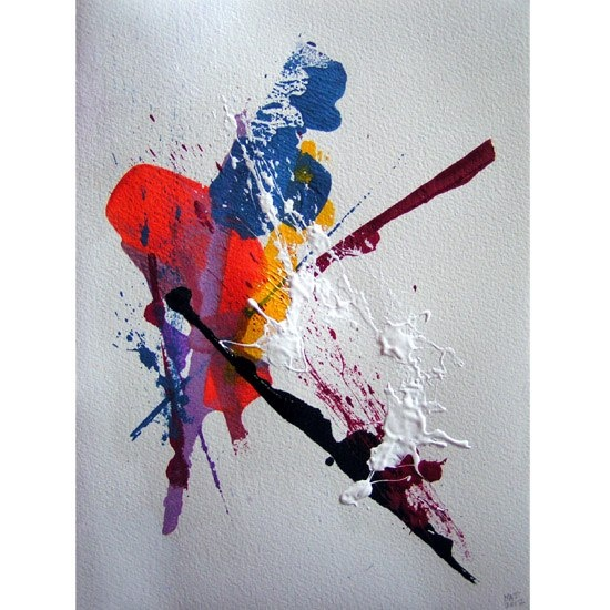 Artiste peintre - Mathieu Fort - Onomastique - 31 x 23 cm - Acrylique sur papier - 2012