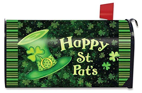 St. Pat's Hat Magnetic Mailbox Cover St. Patrick's Day Briarwood Lane Standard