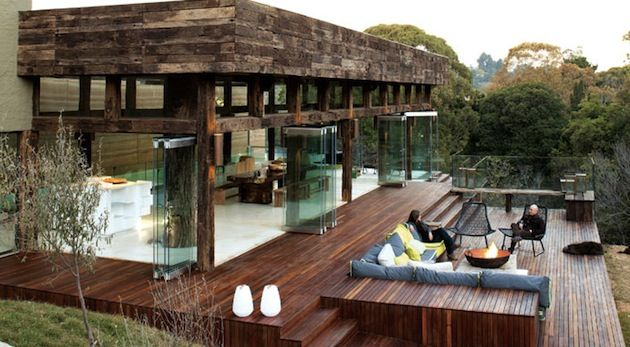 Incredible rustic and modern house Westcliff Pavilion In South Africa via Intrhalld