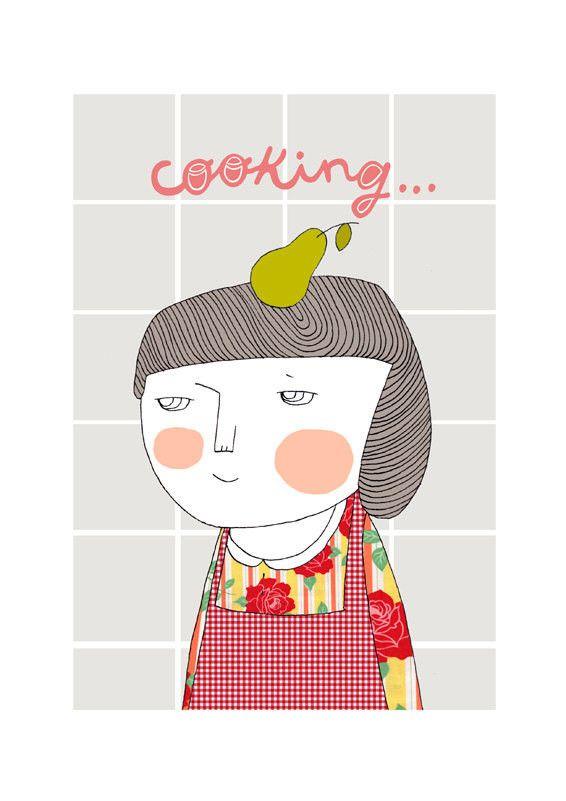 Cooking print // depeapa // www.botigueta.com