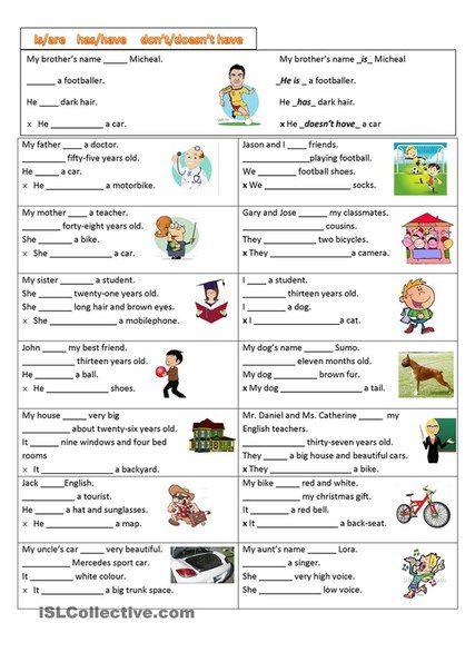 Задания (упражнения) для урока английского языка, простое настоящее время (Present Simple Tense)