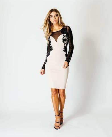 lace panel dress