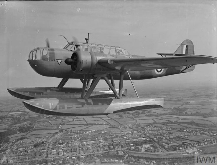 A Fokker T-VIIIW seaplane of No. 320 (Dutch) Squadron RAF setting off on convoy patrol after taking off from Pembroke Dock, Pembrokeshire