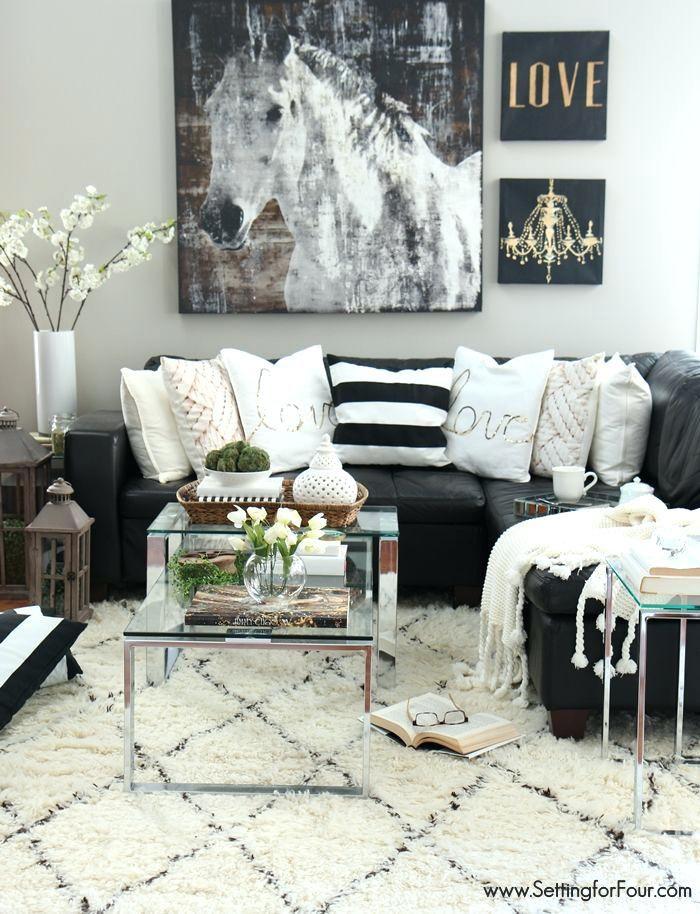 Schwarze Wohnzimmer-Ideen Innenarchitektur 2018 Pinterest - wohnzimmer grau magenta