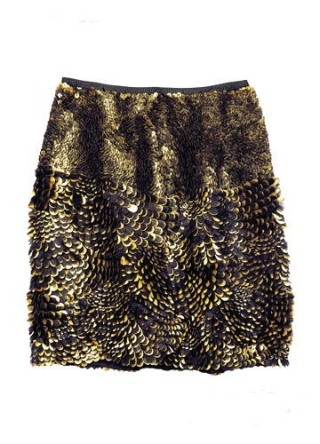 Jason Wu Gold-Plated Hand-Embroider Skirt
