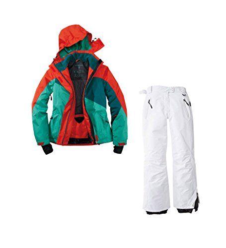 #Skianzug 2tlg. Funktioneller Skianzug Für Damen Gr. 40 M-14 Farbe. Grün-Rot-Weiß Schneeanzug, 00764130929449