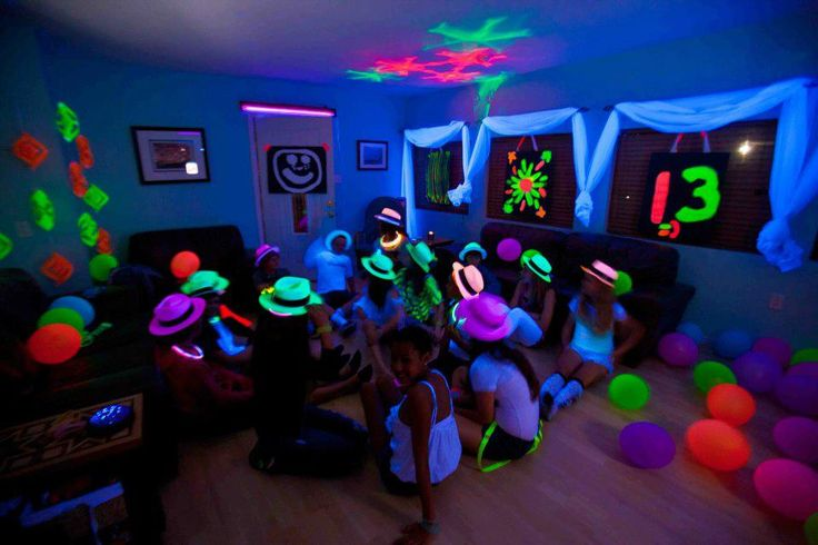 Blacklight  Party for my daughters 13th B-Day