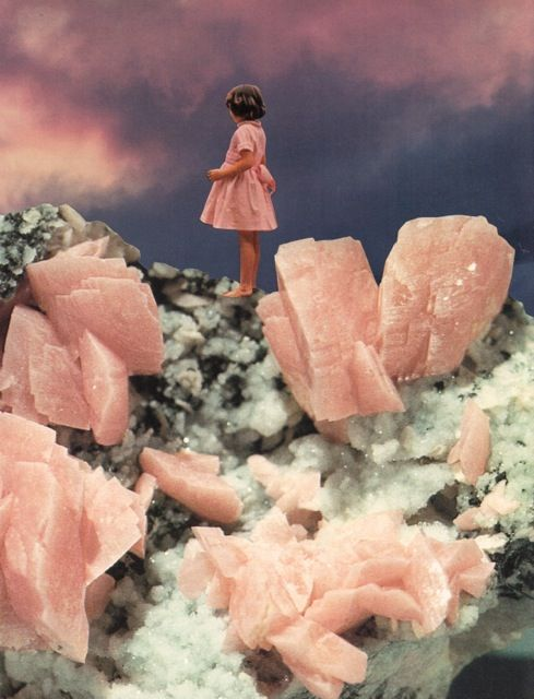 ROSE QUARTZ - collage by Beth Hoeckel