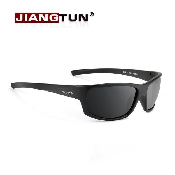 d70b67e6e56 FuzWeb JIANGTUN Sport Sunglasses Polarized Men Women er Driving Fishing  Polaroid Black Frame