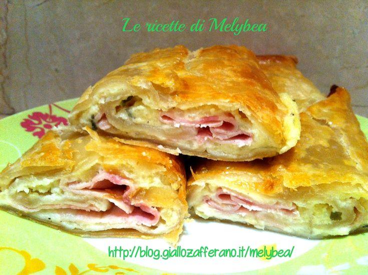 Rotolo di sfoglia con prosciutto e patate - Le ricette di Melybea