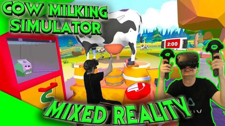 Cow Milking Simulator in Mixed Reality [Let's Play][Gameplay][German][HTC Vive][Virtual Reality] by VoodooDE