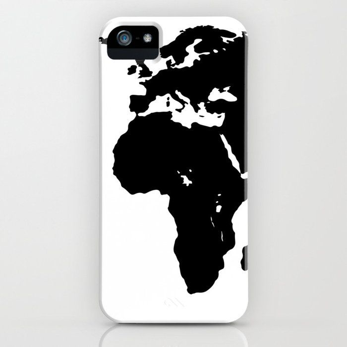 Minimalist World Map Black On White Iphone Case White Iphone Case White Iphone Iphone Cases