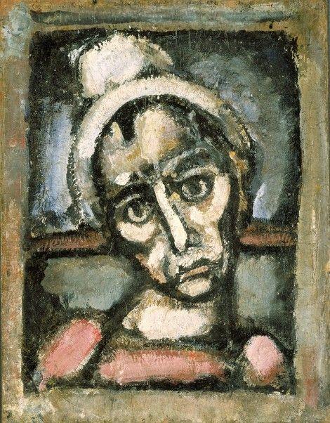 Georges Rouault, Tête de clown on ArtStack #georges-rouault #art